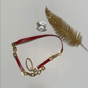 St. John Belt Red and Gold size 30 Like New Luxury
